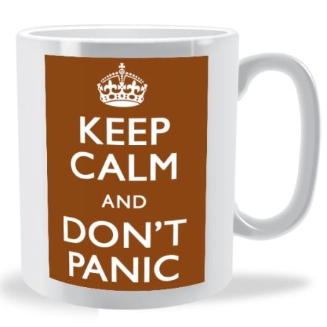 keep calm and dont panic mug