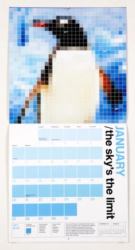 Pantone Calendar 2013 January