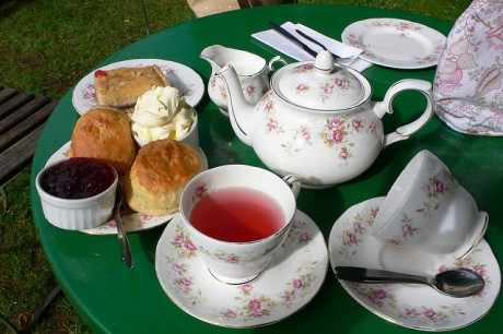 Cream tea at Selworthy in Devon