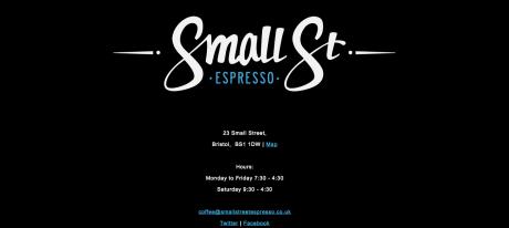 Small St Espresso Bristol webpage