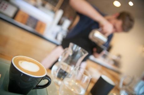 Coffee shop cortado