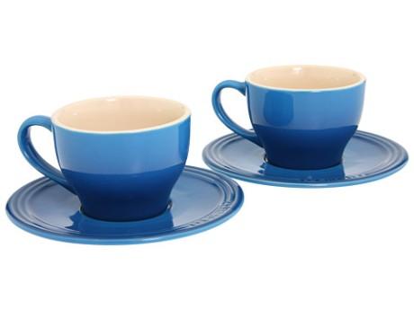 cups and saucers bleu azur