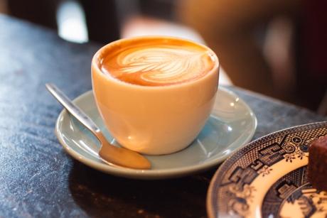 Flat white and latte art