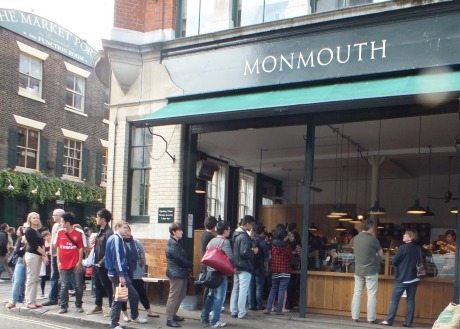 Queue outside Monmouth coffee shop