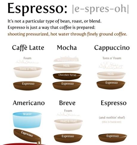 Espresso infographic poster