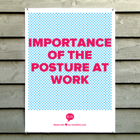 Importance of the posture at work