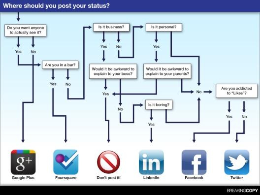 Social Media status infographic