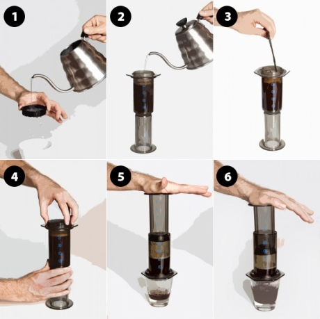 Aeropress stages