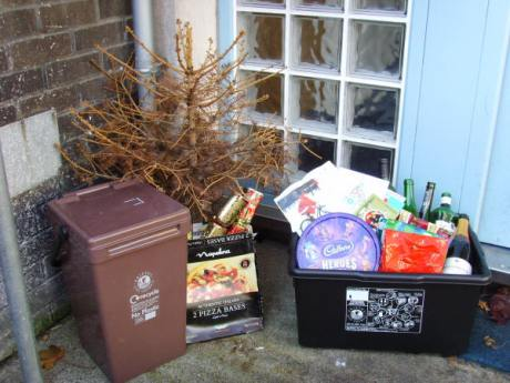Christmas rubbish collection