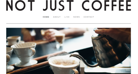 Not Just Coffee - website