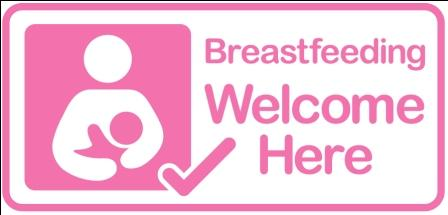Breastfeeding friendly sticker