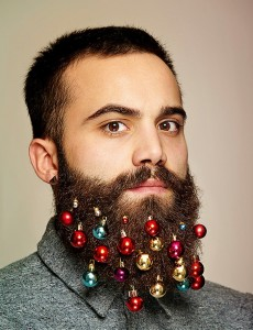 Bearded hipster and christmas